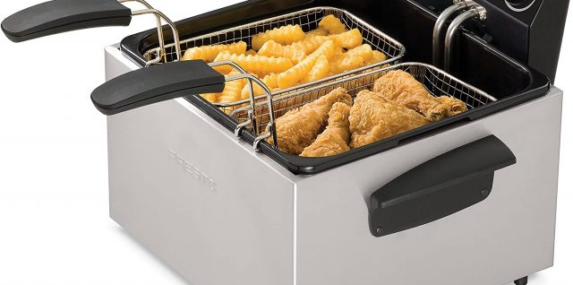 Friteuse double cuve inox